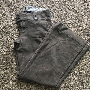 Low Rise Brown Dress Pants